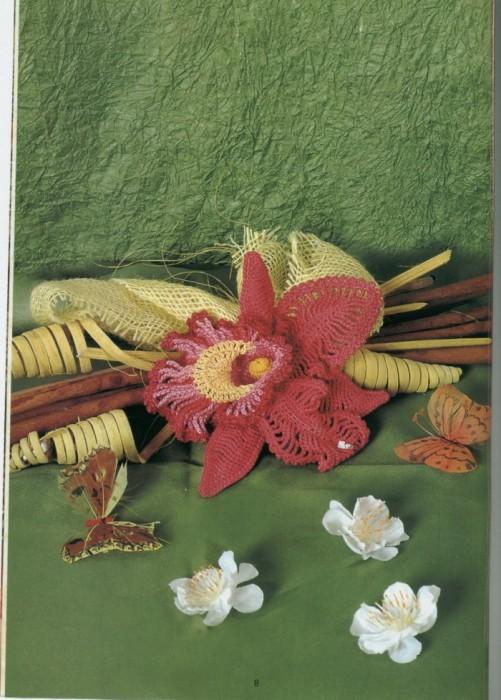 Цветы, вязаные крючком.