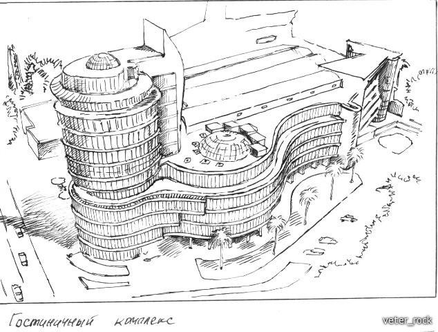 Рисунки пером и тушью Обсуждение на Российский  Графический реферат гостиница какая то