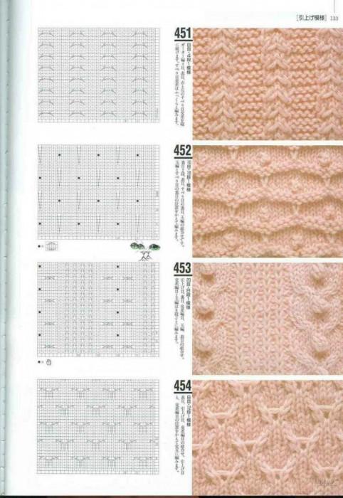 японские узоры для вязания на спицах, очень легкие вязаные топы.