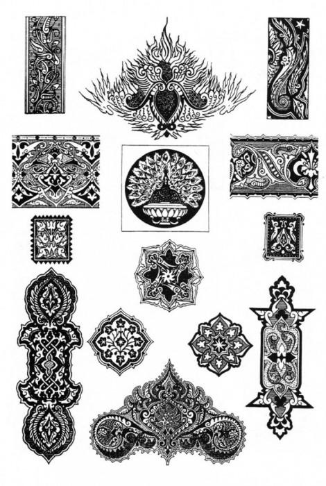 Персия - персидские узоры и орнаменты.  Живопись.