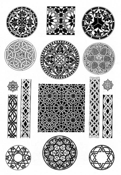 Арабы - арабские узоры и орнаменты.  Живопись.