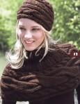женские вязаные береты спицами описание. вязание шапок девочек.