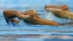 Оны Карбонелл и Андреа Фуэнтес (Ona Carbonell and Andrea Fuentes) из Испании. Выступление пар на чемпионате Европы по синхронному плаванию в Будапеште, 5 августа 2010 года.