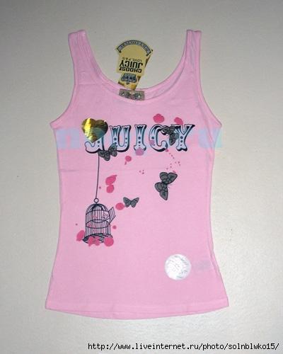 Женская майка от Juicy couture Маячка Juicy couture, розового цвета.