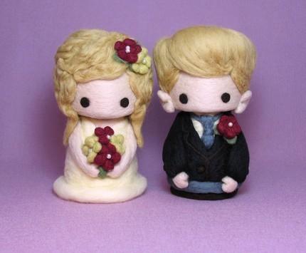 Wever Ducre.  Китайские миниатюрные куколки из войлока , шерсти.