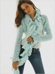 Рхема вязания крючком ажурного шарфа.  Схемы вязания шапок и шарфов...