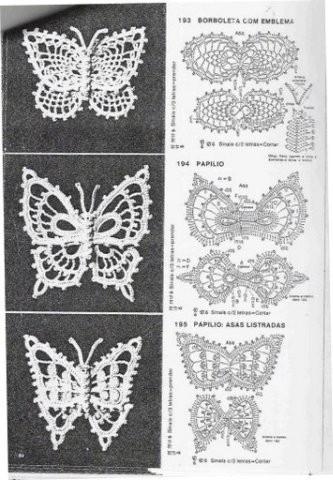 Вязаные бабочки - Вязание для дома.