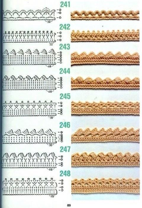 Описание: Узоры вязания крючком.  Размещено с помощью приложения.