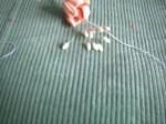 как сделать цветы из ткани выкройка.