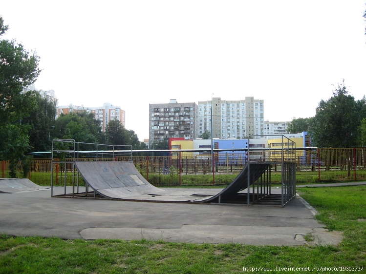 Верхний скейтпарк в Медведково Скейтпарк в Медведково.