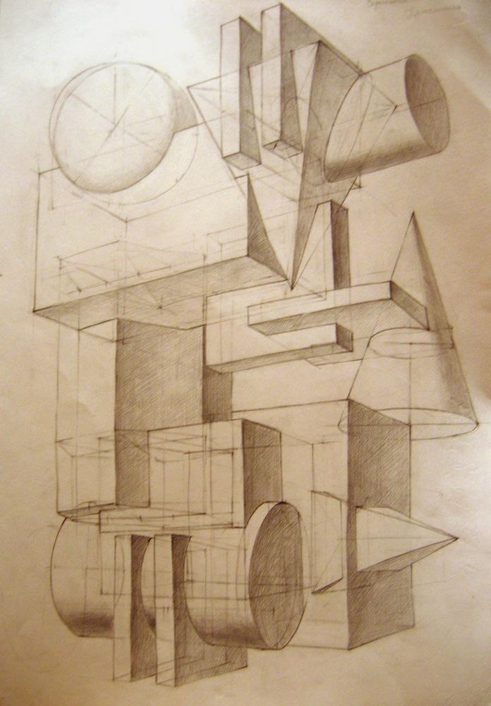 архитектурная графика примеры вступительных работ два болта бокам