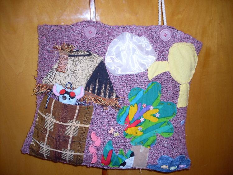 сумка из свитера, наша походная.