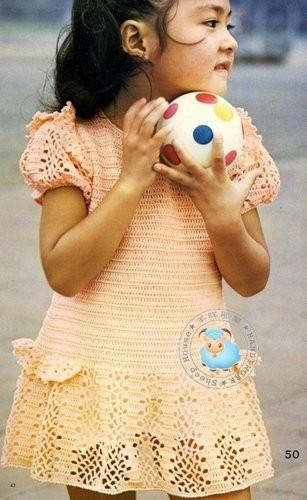 ...описания,мастер классы. платья вязанные детские крючком со схемами.