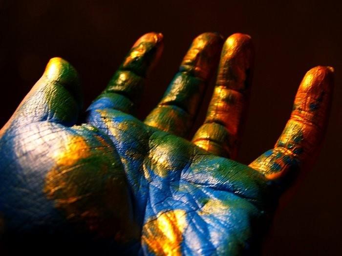 Рука отпечаток креатив загрузить