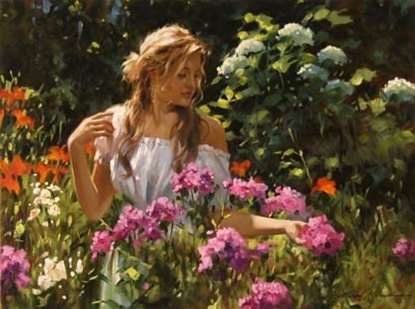Женская красота в живописи Richard S. Johnson.