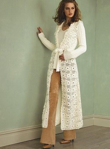 Я. Вязаные пальто и кардиганы, вязание спицами платья- туники.