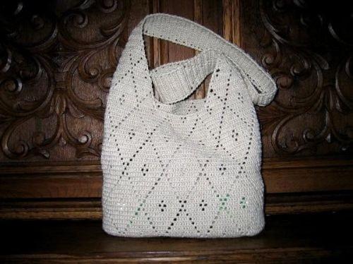 вязание крючком сумки из пакетов схемы.