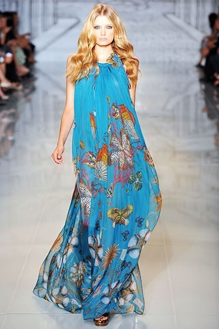 Длинные платья из шифона 2011 .  Самые модные тенденции.