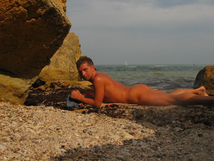 диком одесситки пляже на