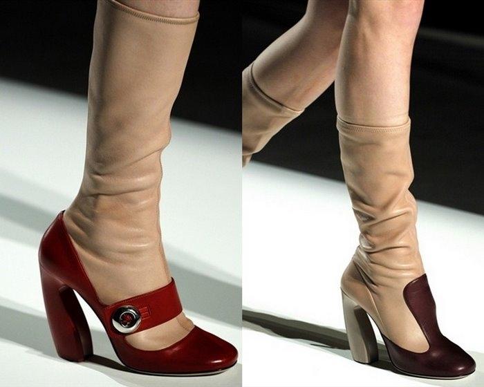 ...Вам сегодня посмотреть на сапоги из коллекции Prada осень 2011 RTW.