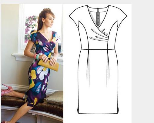 моделирование платья с драпировкой.
