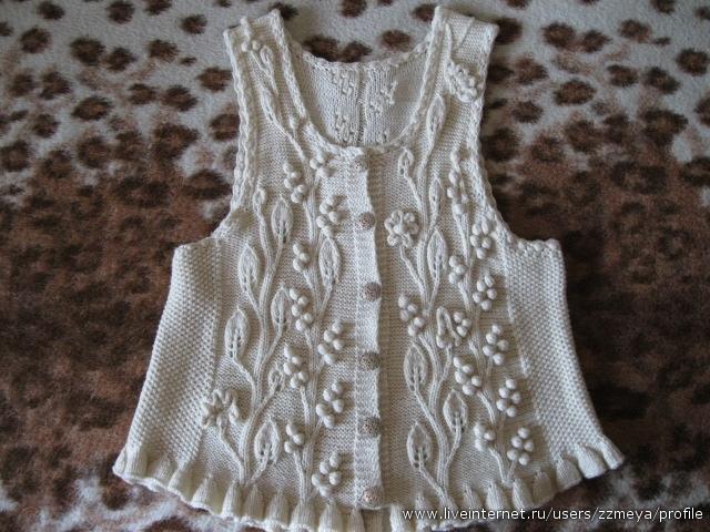 Новые модные вязанные жилеты женские Сентябрь 25, 2012.