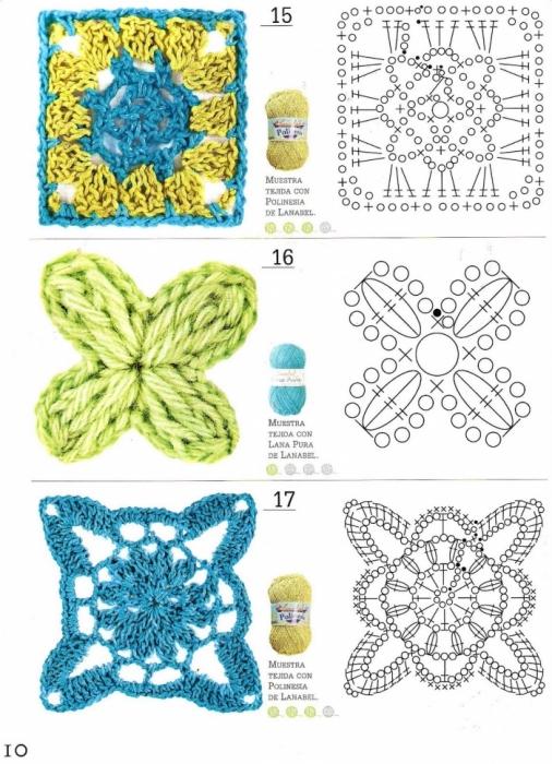 квадраты крючком схемы, и вязание для женщин ажурные кофты лето...