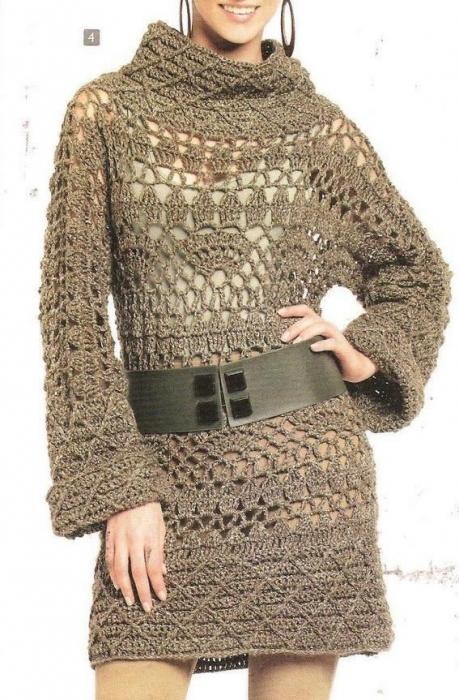 Теплое платье-туника крючком.  640 pxРазмер.  Wed Jan 25 2012 3:22...