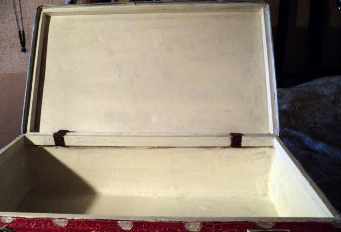 """набрать в строке поиска слова  """"старый чемодан .  Декорирование табуретк."""