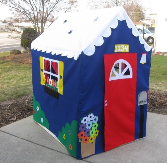 Сказочный летний домик для детей своими руками.