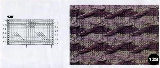 """1001 узор; Узоры спицами.  Структурные или  """"тканые """" узоры с..."""
