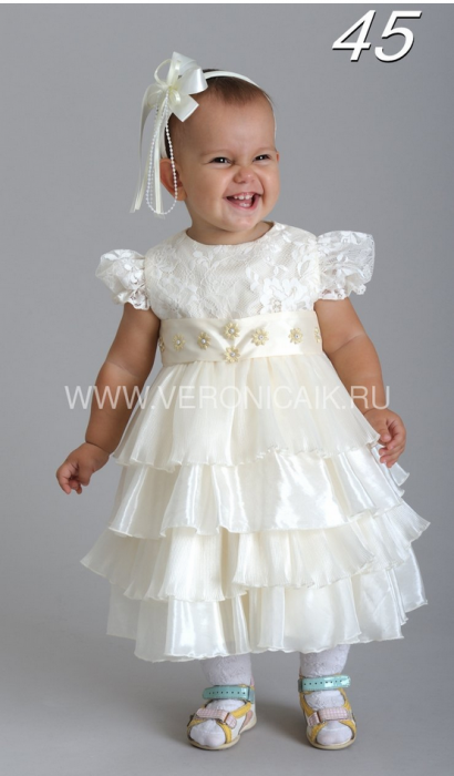 Артикул: 045-010 Красивое детское платье для малышки 1-2 года.