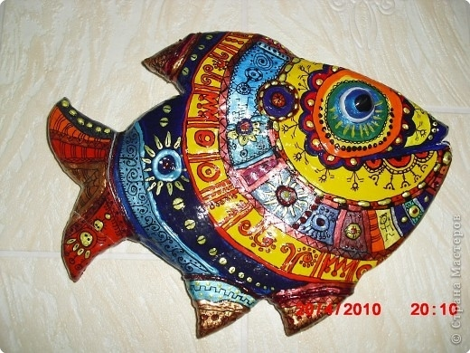 Лепка: Рыба в этническом стиле.  Тесто соленое.