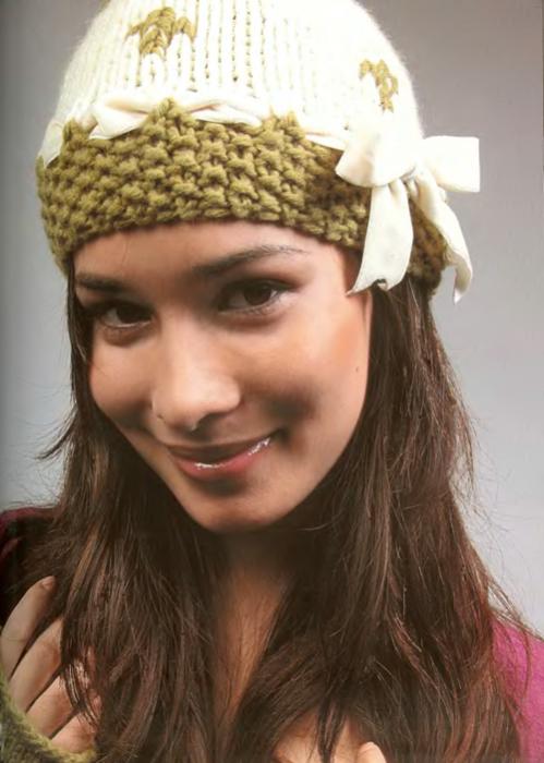 Модные вязанные женские шапочки фото.