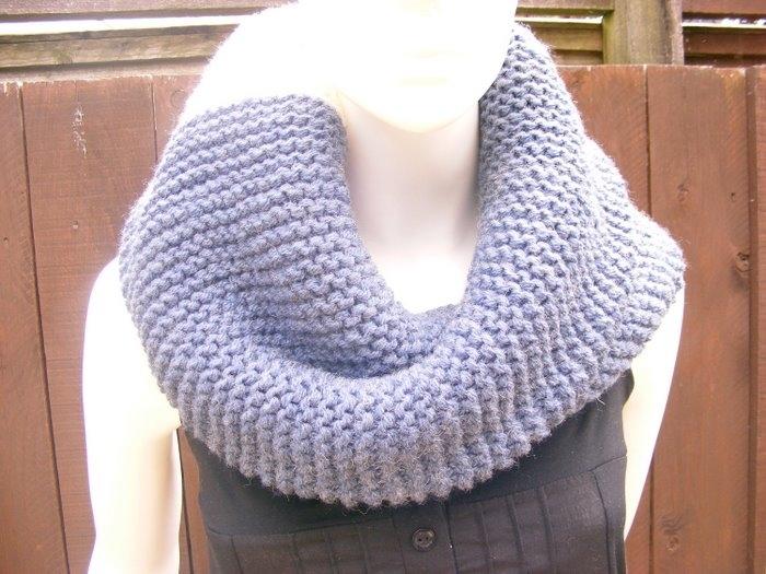 Как связать снуд круговой шарф - Как связать снуд спицами подробное...