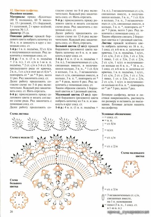 Валя- Валентина - декоративное вязание крючком. Журнал 54