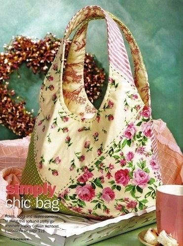 нежная сумочка, сшитая своими руками.  Летняя сумочка из пластиковых...