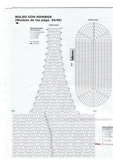 А это узор веерочков, которыми можно обвязать ручки у белой сумочки.