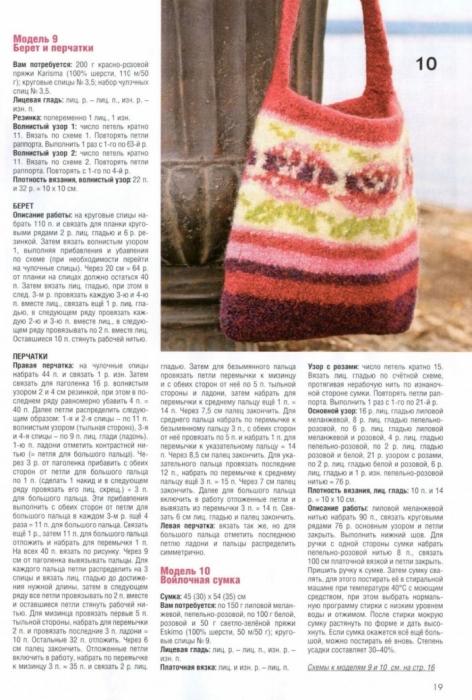 Модели из журнала, примеры: Сумка из пряжи для валяния.  Комплект.