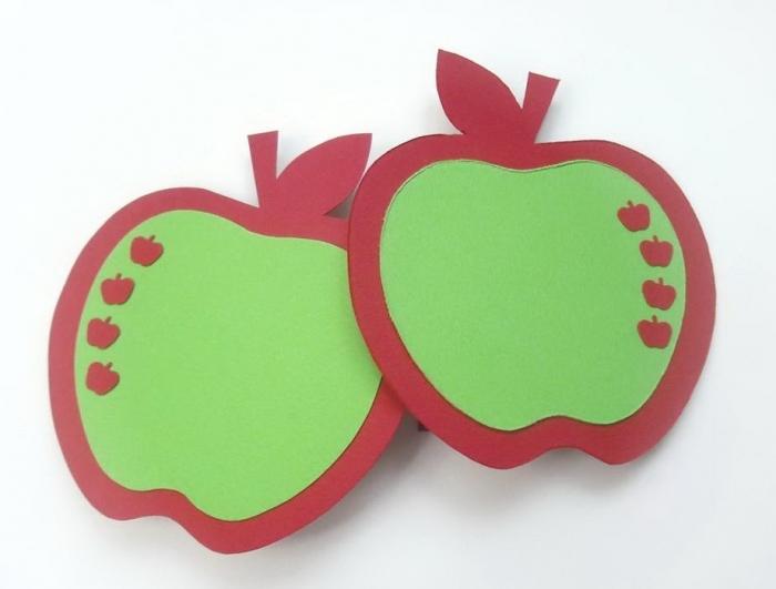 Объемные открытки яблоки, коробочка