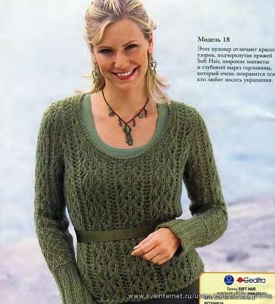 Образцы вязания спицами модели