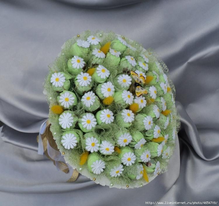 Букет из конфет ромашка, цветы саранск сайт