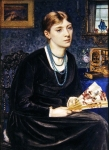 Poynter, Edward John ? Portrait of Louise A Baldwin 1868