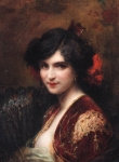 Tanoux, Henri Adriene ? Portrait of a Spanish Lady