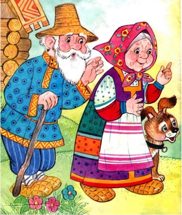 Картинка бабушка и дедушка для детей, рождество