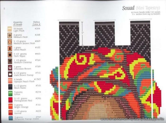 Схема цветы ткачество