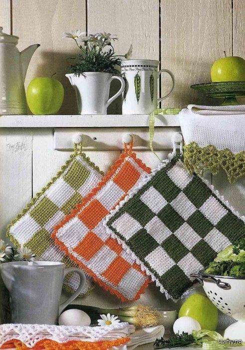 Вязание для дома крючком и спицами/Прихватки. вязание крючком для дома.