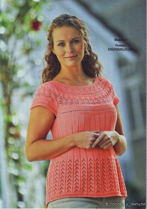 Фото из рубрик: Жилет женский вязаный и Журналы по вязанию на спицах.