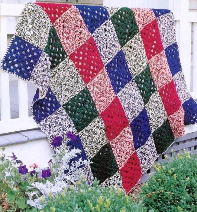 Вязаные пледы, одеяла, коврики, покрывала. Обсуждение на ...