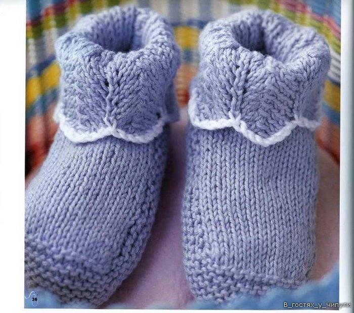 Описание: вязание пинетки - вязание для малышей.